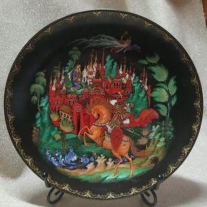 "Tianex Russian Legends Decorative Plate 8"""